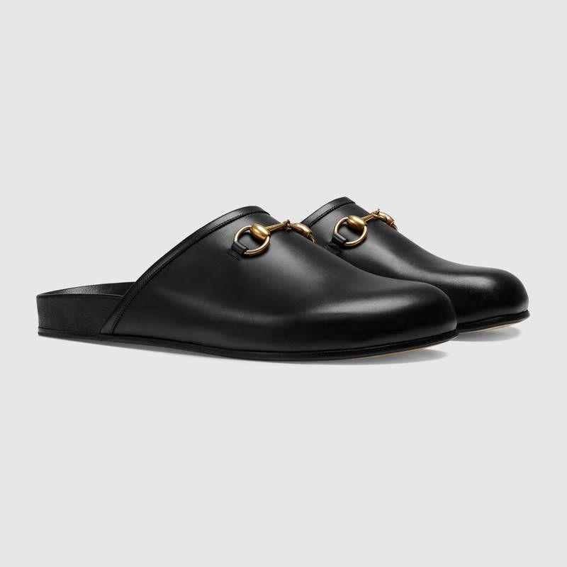 91b3f728540 GUCCI Horsebit leather slipper