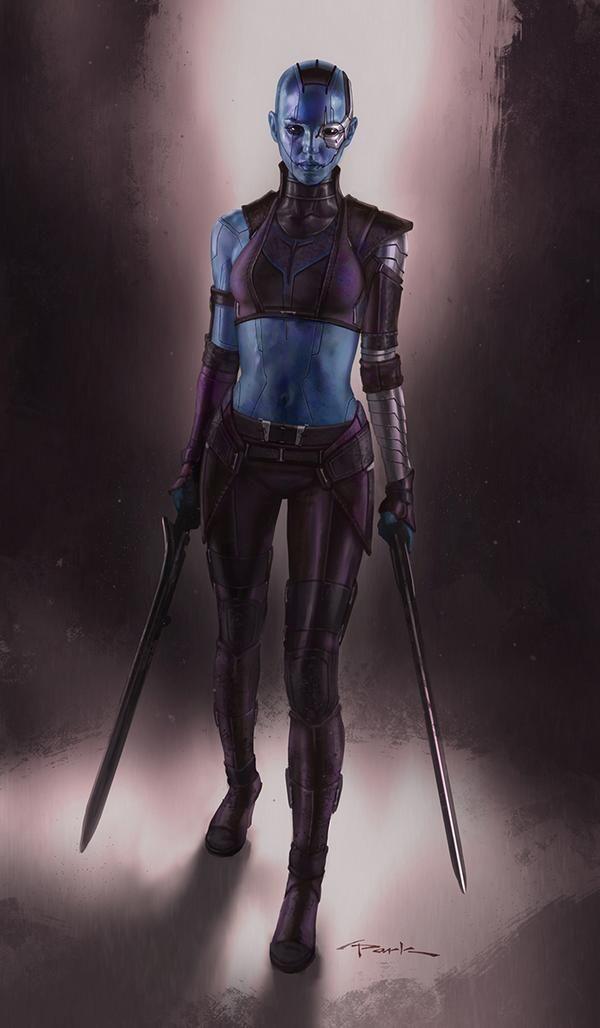 Alternate Nebula Costume Design for GUARDIANS OF THE GALAXY - costume designer resume
