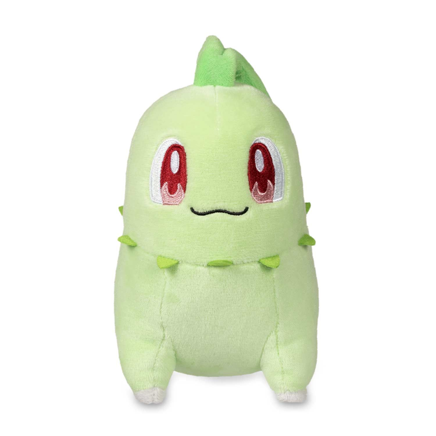 Car hanging soft toys  Official Chikorita Poké Plush   inches tall with big smile a