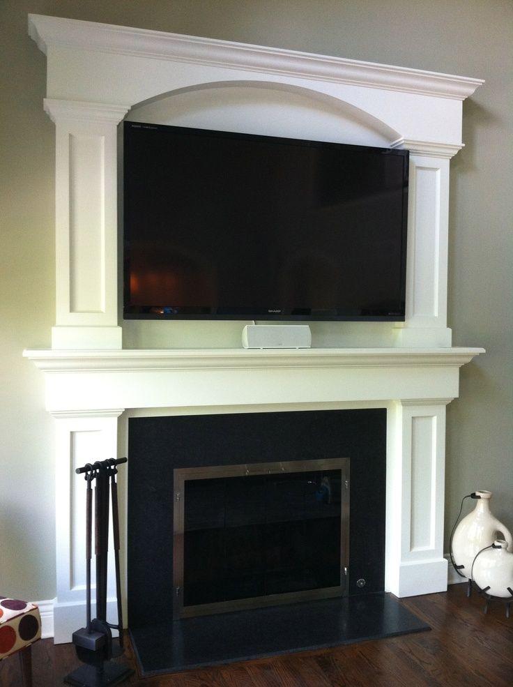 Fireplace Surround Ideas With Tv Custom Fireplace Surround Tv