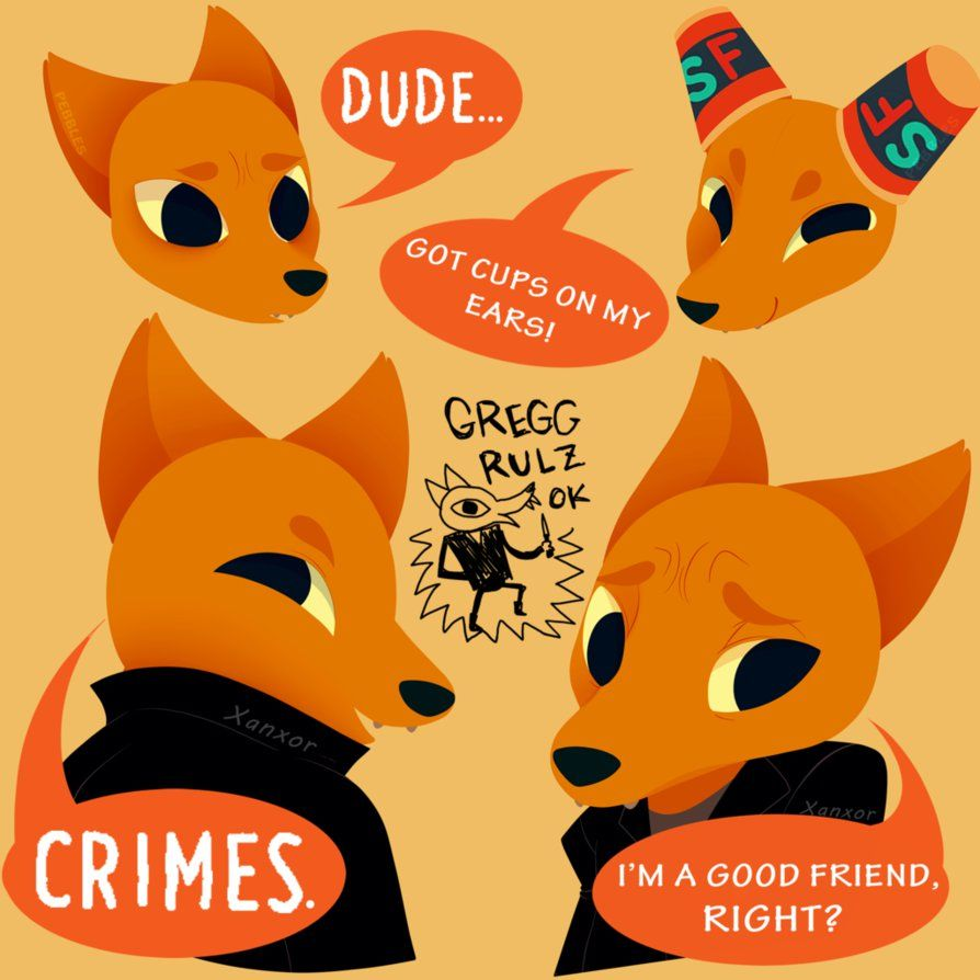 Night In The Woods Gregg By Xanxor I Stg Everyone Is On Drugs