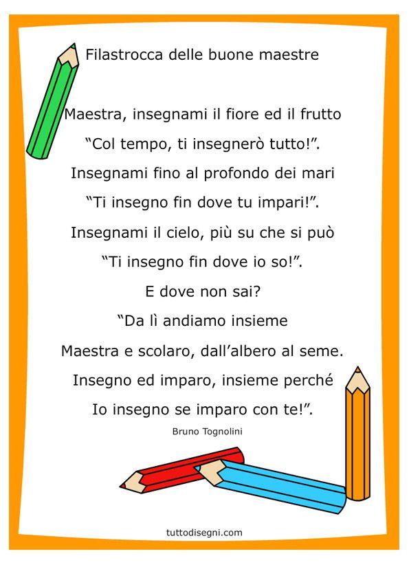 Fine Anno Scolastico Filastrocca Per Le Maestre Parole In Rima