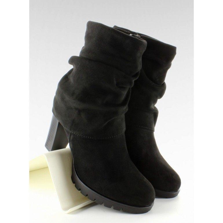 Stylowe Botki Z Golfem Jk41 Black Tanie Buty Sklep Immoda Boots Shoes Ugg Boots