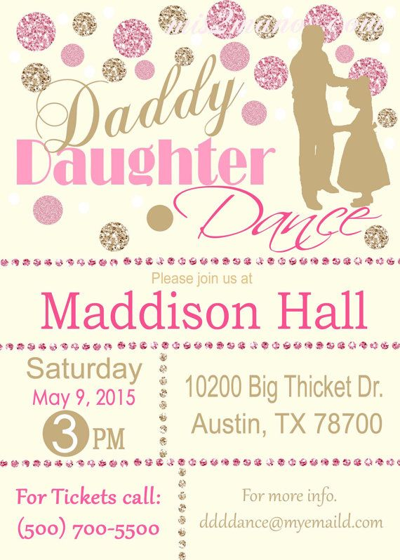 Daddy Daughter Dance Glitter And Gold And By M2mpartydesigns Party