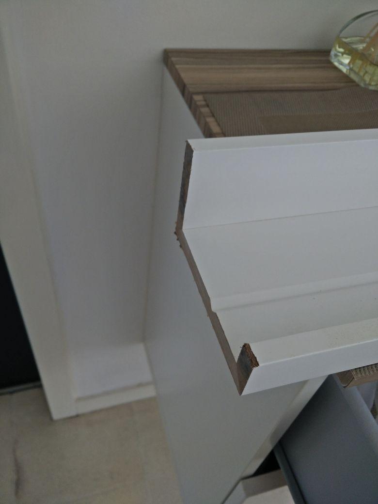 Cutting the ikea mosslanda picture shelf ledge home Ikea picture ledge
