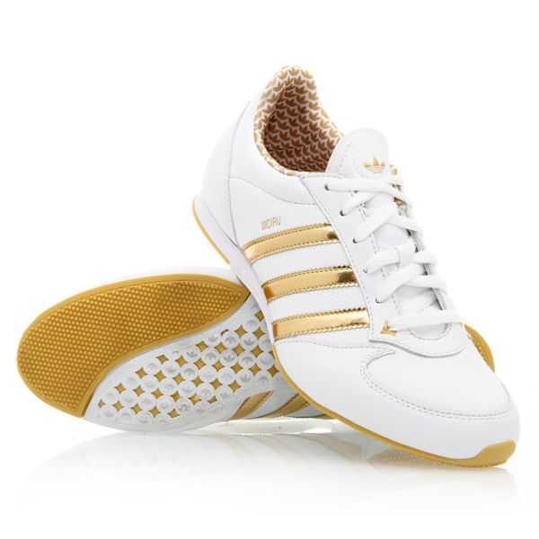 Adidas Midiru for women, love the gold!