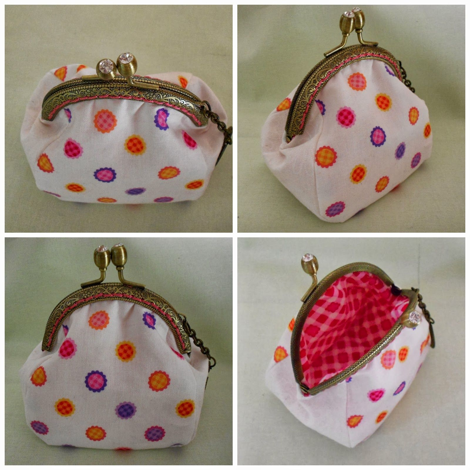 Coin purse tutorial and free pattern for 8cm purse frame | Purse ...
