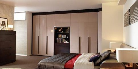 Appealing Modular Bedroom Furntiure With White Wall Painting Used ...