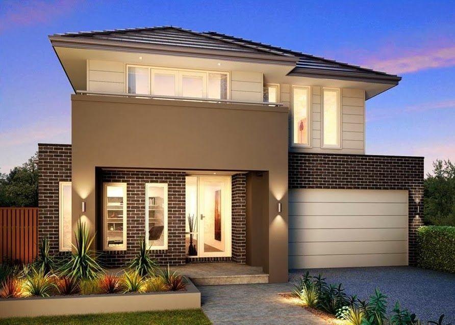 fachadas de casas bonitas de diferentes tipos y tendencias un y dos pisos