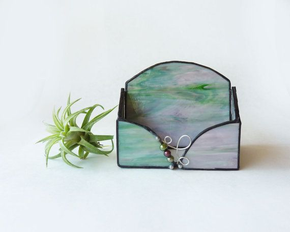 Stained Glass Card Holder Sweet Pea 3 By Glassetc On Etsy