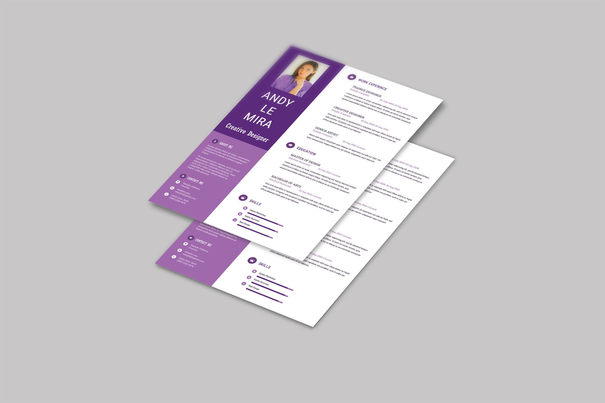 Stylish Purple Resume Template Free Download Resume Template Free Resume Template Free Resume Template Download