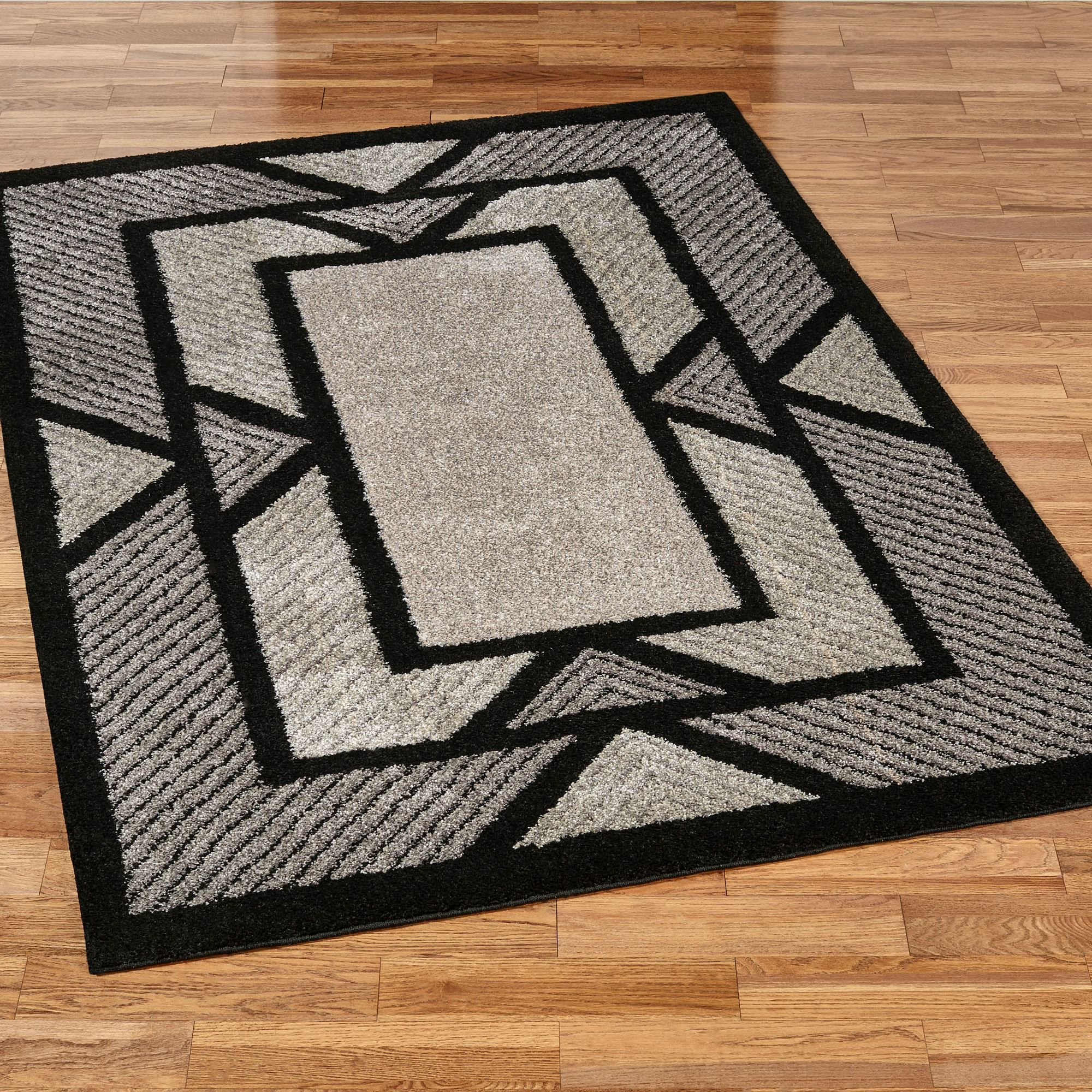 Ternion Black Art Deco Shag Area Rugs Patterns Pinterest