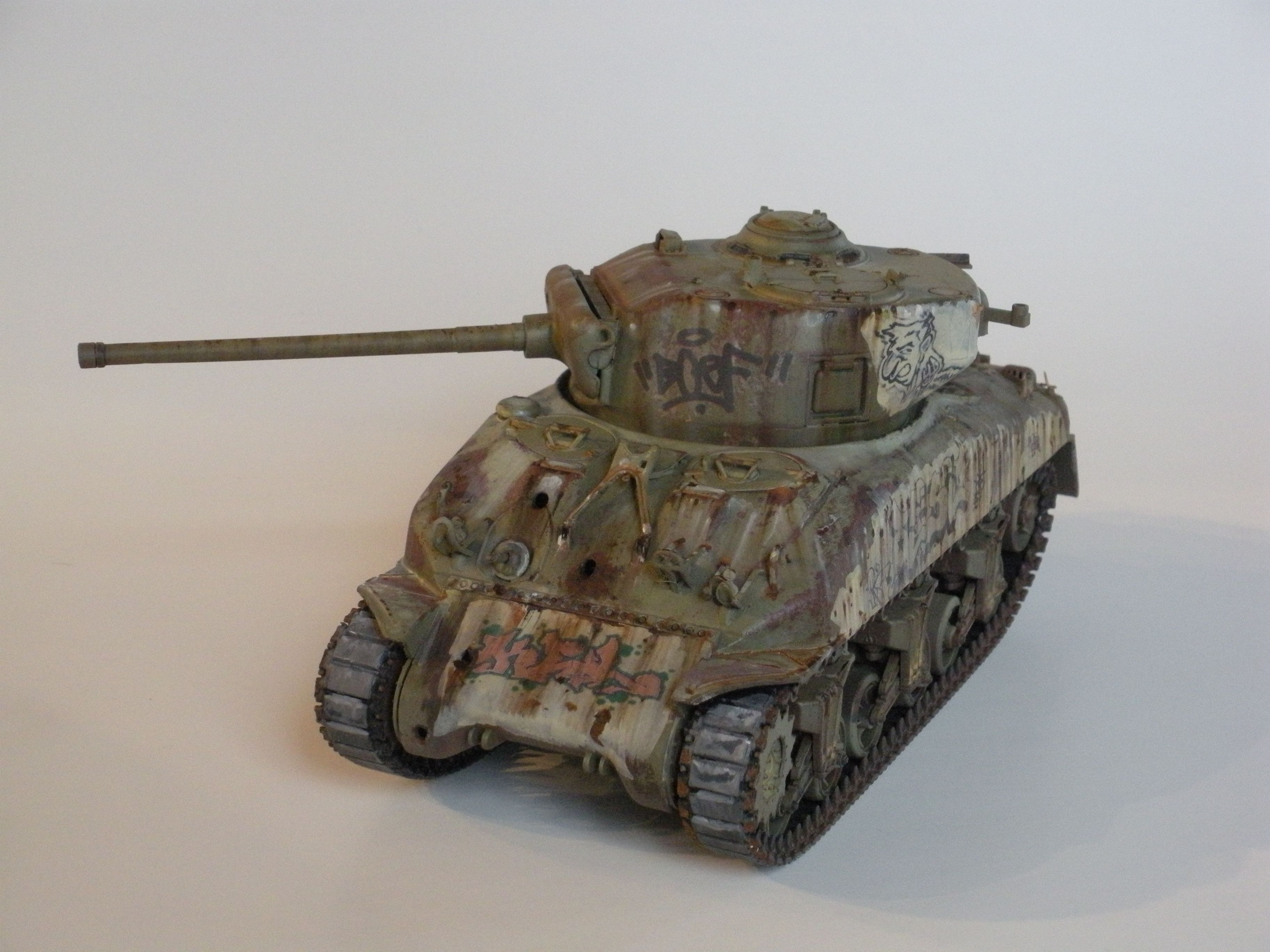 A weathered Sherman Tank 1/35th scale by Marcel Scuderi