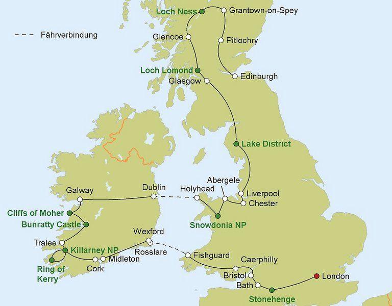 Rundreise Erlebnis Grune Inseln Grossbritannien Und Irland
