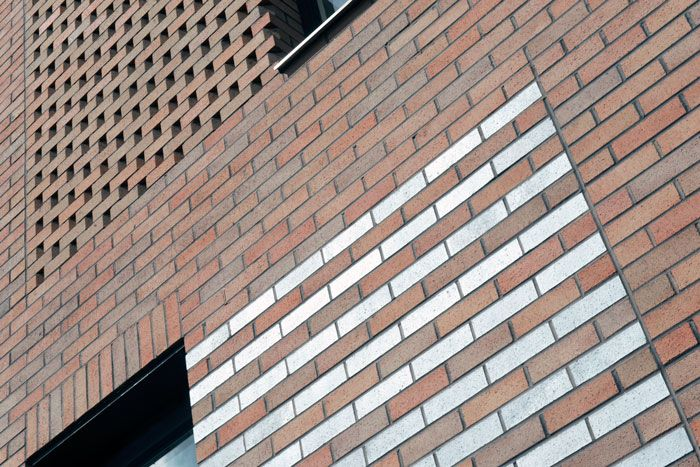 The Point building in New Islington using Blockleys Park Royal Wirecut bricks.