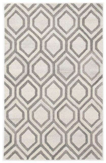 Jaipur Living Hassan Handmade Trellis White Gray Area Rug 2 X3 Rug137361 In 2020 Textured Carpet Rugs On Carpet Geometric Area Rug