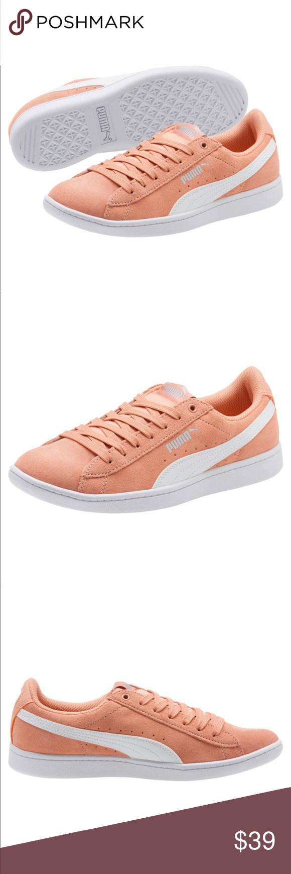 Coral Puma Vikky Softfoam Women's Sneaker 6.5 Brand New In