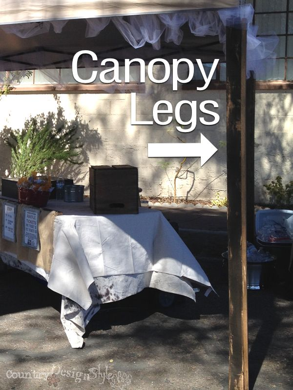 canopy legs //countrydesignstyle.com Make wood legs for your canopy! & Canopy Legs | Canopy Woods and Display
