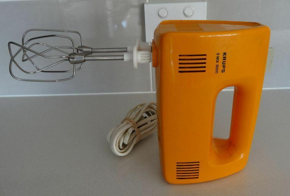 Retro Vintage Orange Krups 2 Mix 3000 Works Well Handheld Mixer Handheld Mixer Retro Vintage Krups