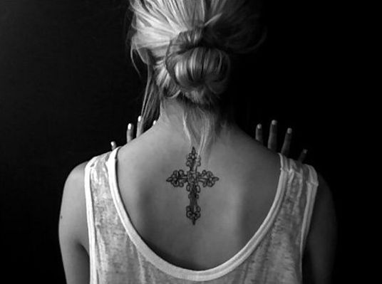 Sexy back tattoo for women