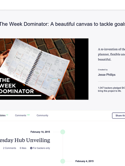 New upvoted product on Product Hunt: The Week Dominator