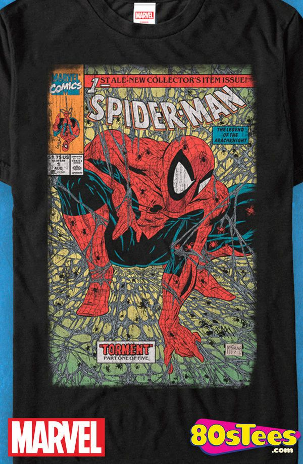 244259e49 Spider-Man Torment Comic Cover T-Shirt: Spider-Man Mens T-Shirt Spidey  geeks: This popular celebrity super hero is as colorful as the art and  illustration ...