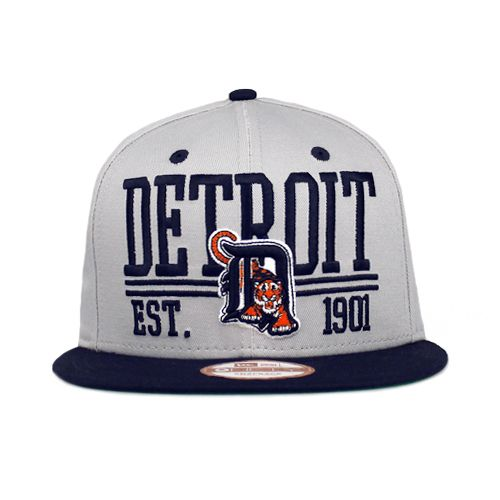 cheap for discount b1a44 1f220 Detroit Tigers The Established Snapback Gray   Team Colors 9fifty New Era
