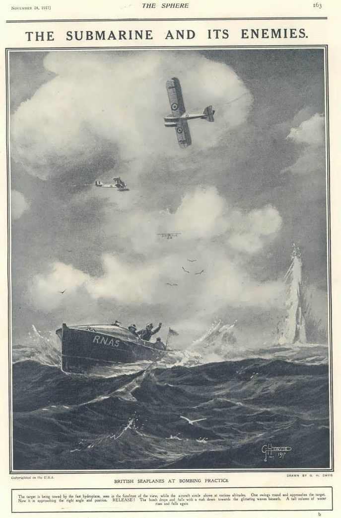 Royal Naval Air Service bombing practice – The Sphere, 24 November 1917