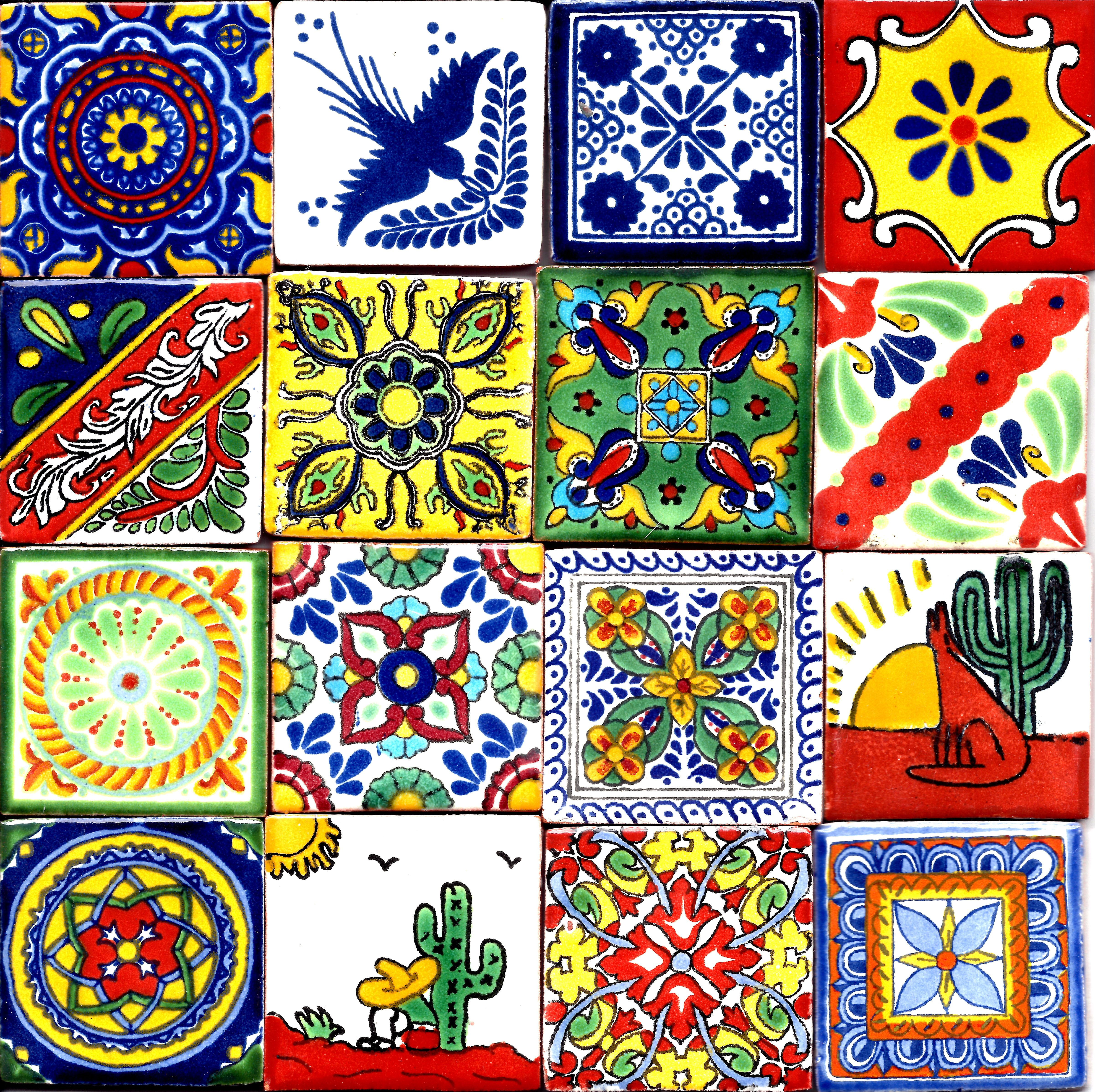 Hand Painted Mexican Clay Tiles Purchased At El Mercado In San Antonio Tx Every