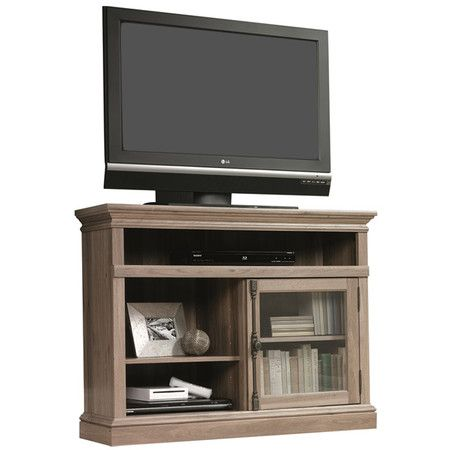 This Corner Entertainment Stand Comes In A Salt Oak Finish And Has