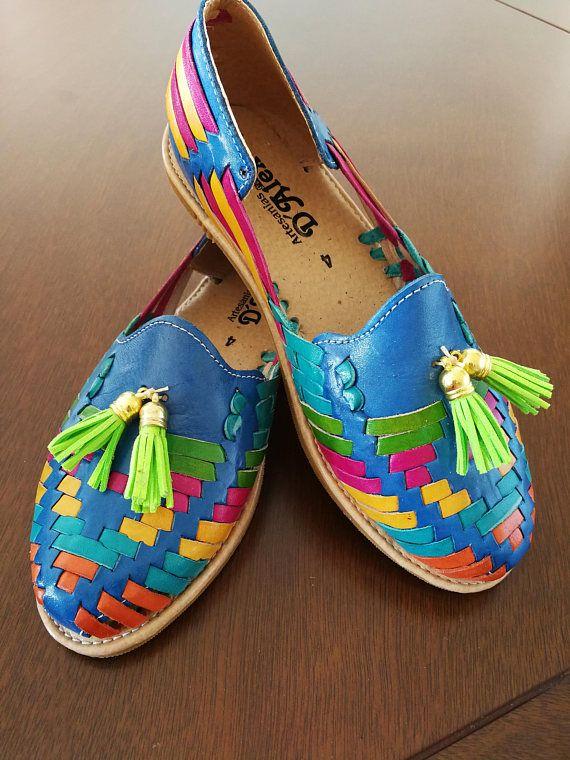 Mexican rainbow sandalias sandalias Huaraches mexicanos