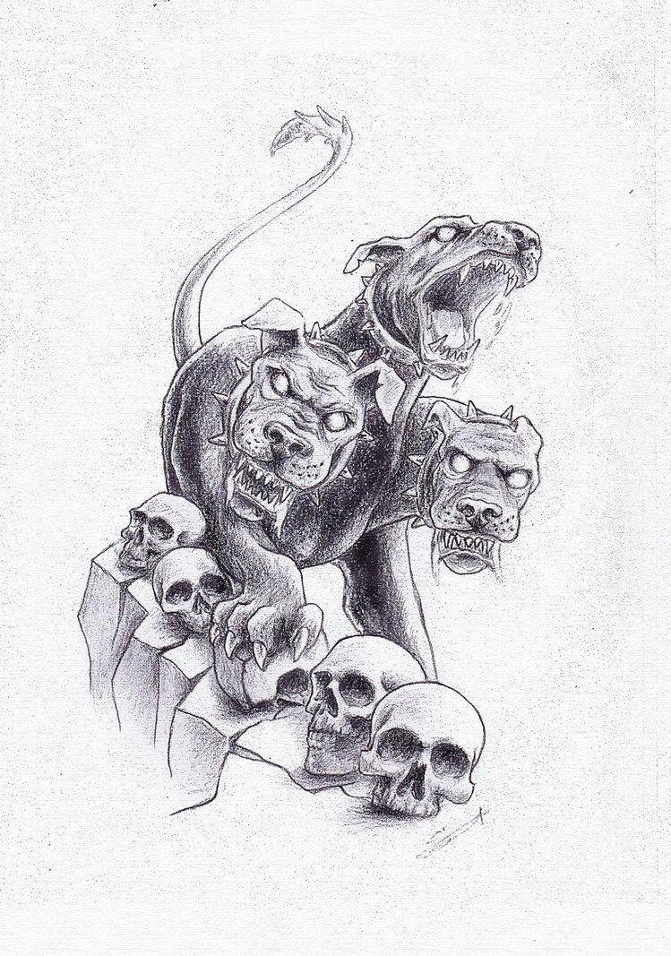 Cerberus greek mythology line art bing images coloring for Cerberus coloring pages
