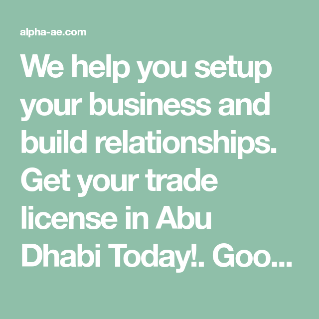 We help you setup your business and build relationships