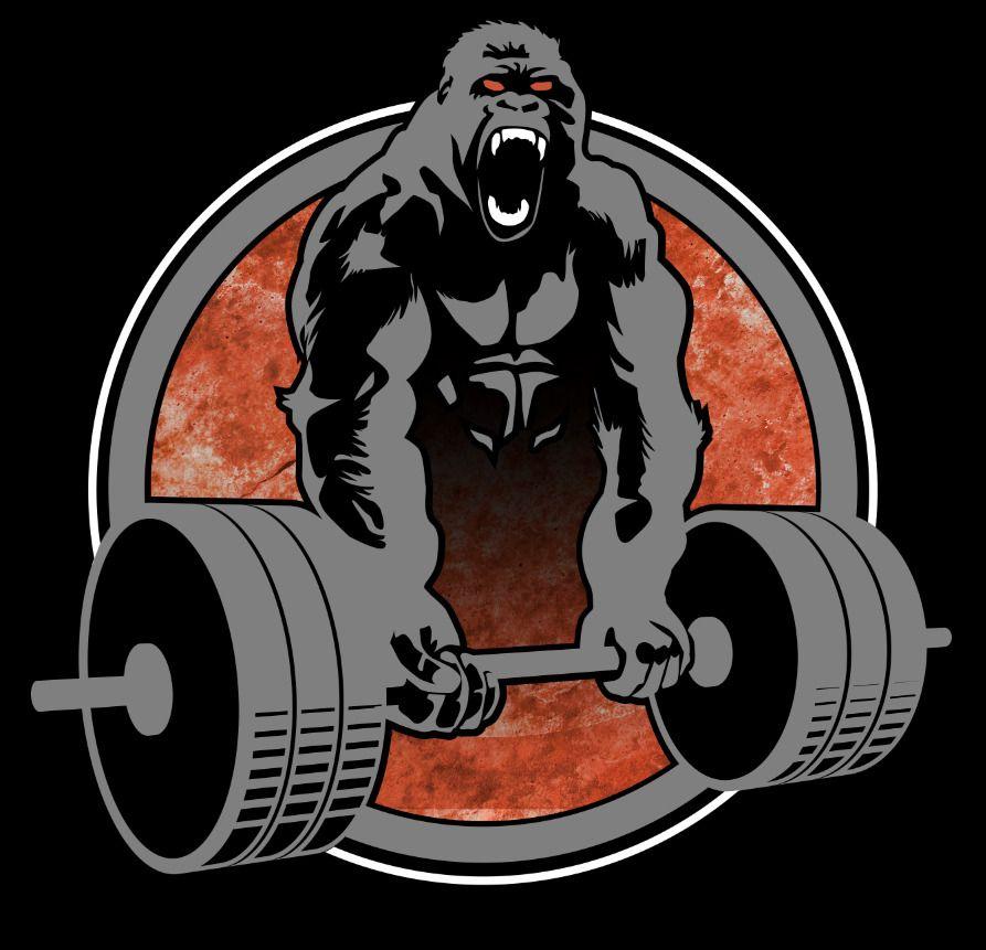 Cartoon Logo Design Custom Logo Business Logo Professional Etsy In 2021 Gorilla Nutrition Logo Nutrition Poster