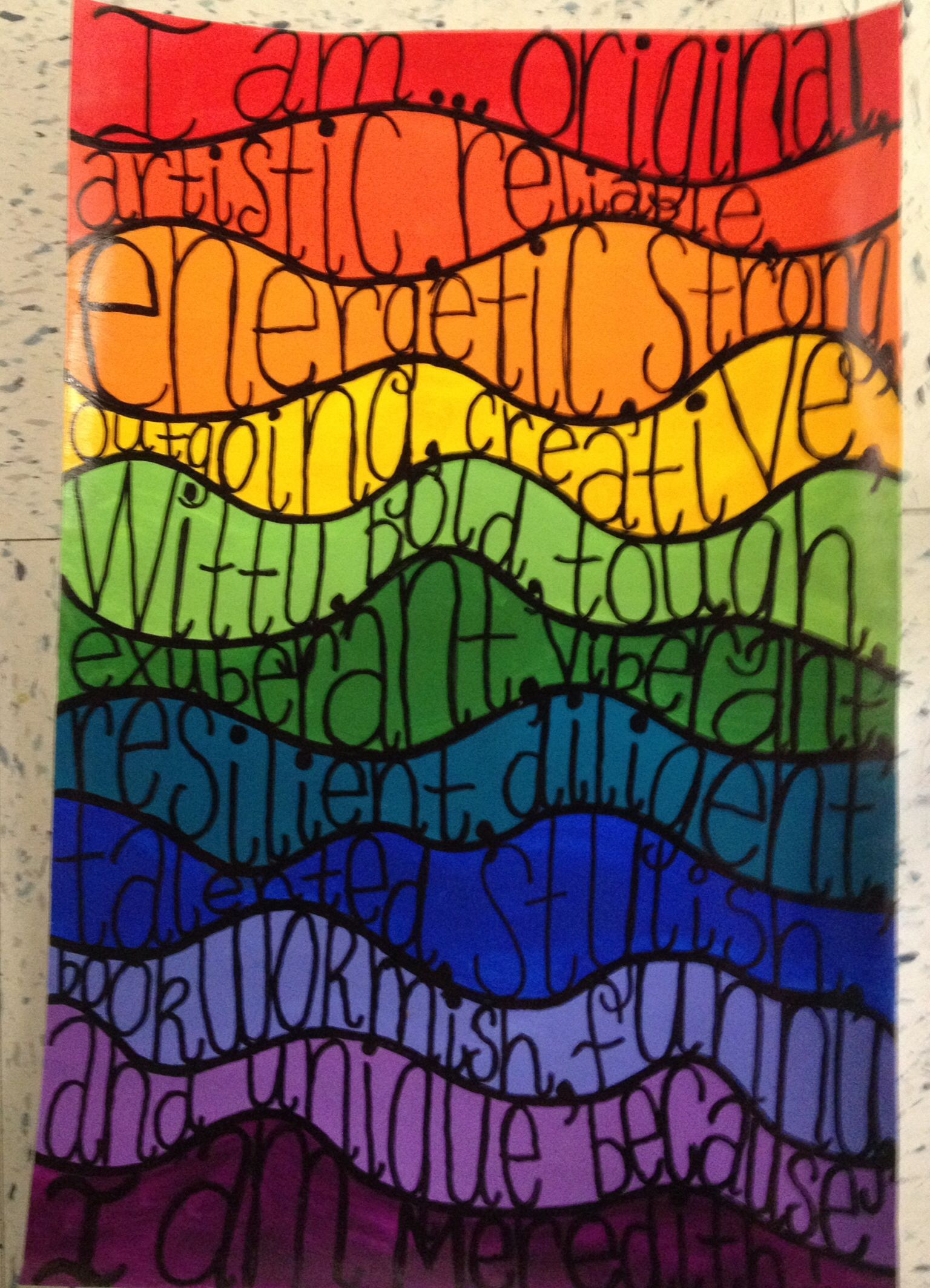 I Am Art Project Poem To Describe Oneself With Positive Descriptive Adjectives Grades 3 5