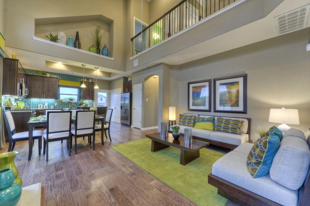 Contemporary Living Room with Pergo XP Riverbend Oak ...