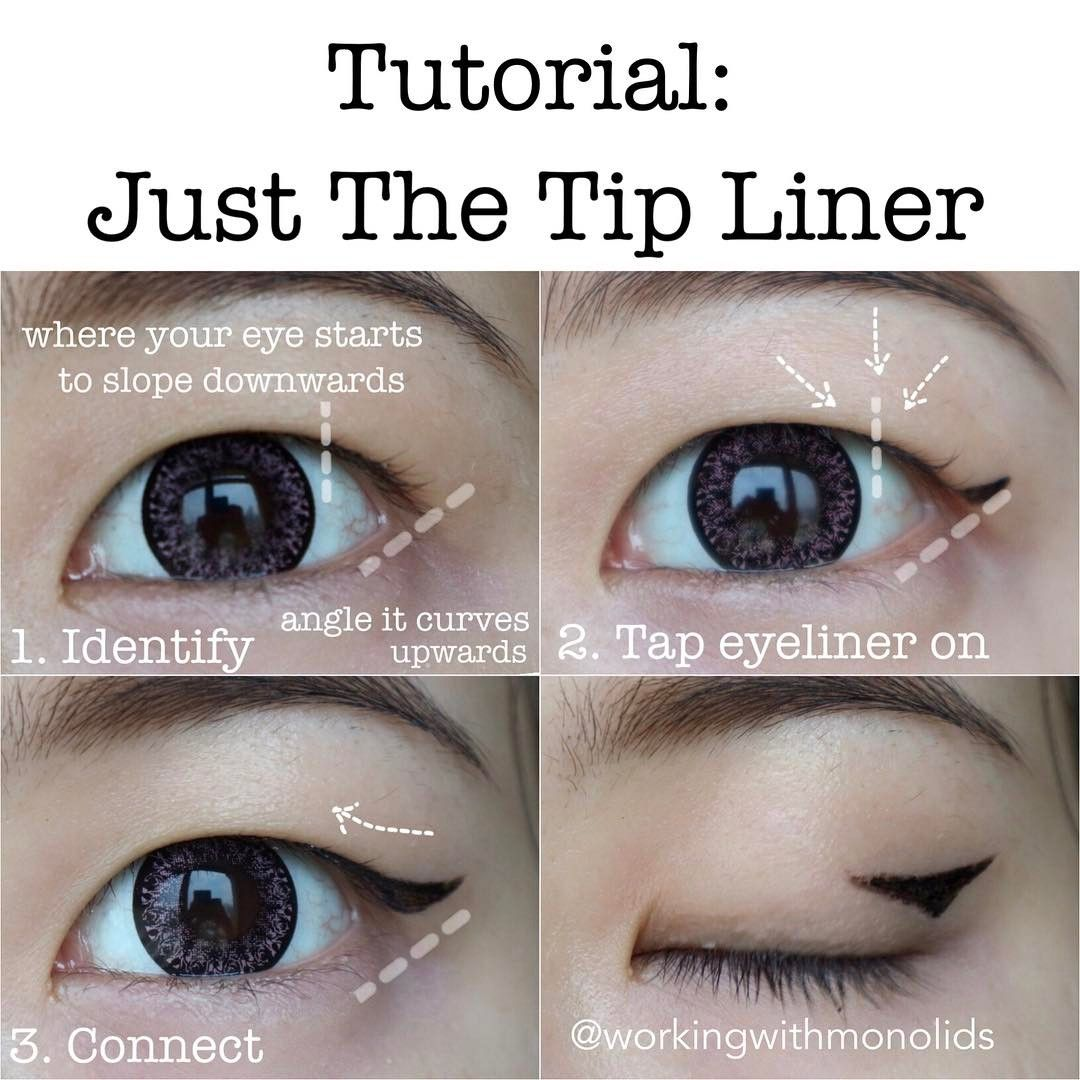 Monolid makeup tutorial Just The Tip Liner styled247
