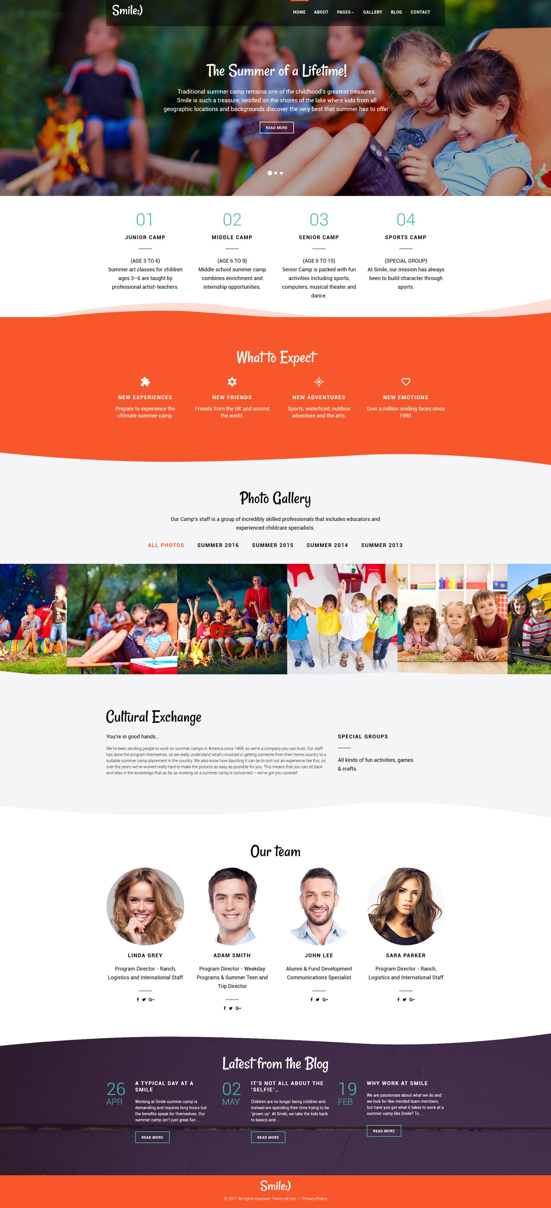 Traditional Summer Camp Joomla Template