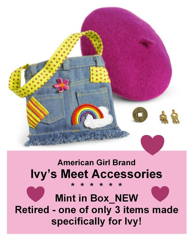 Details about American Girl Doll Ivy's Meet Accessories NIB