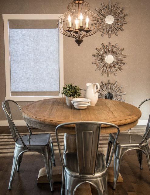 Superb Rustic Chic Rustic Dining Room U2022 Cool Metals And Warm Woods Combine In This