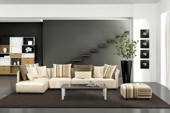 Wände streichen Ideen in dunklen Schattierungen home Pinterest - ideen zum wohnzimmer streichen