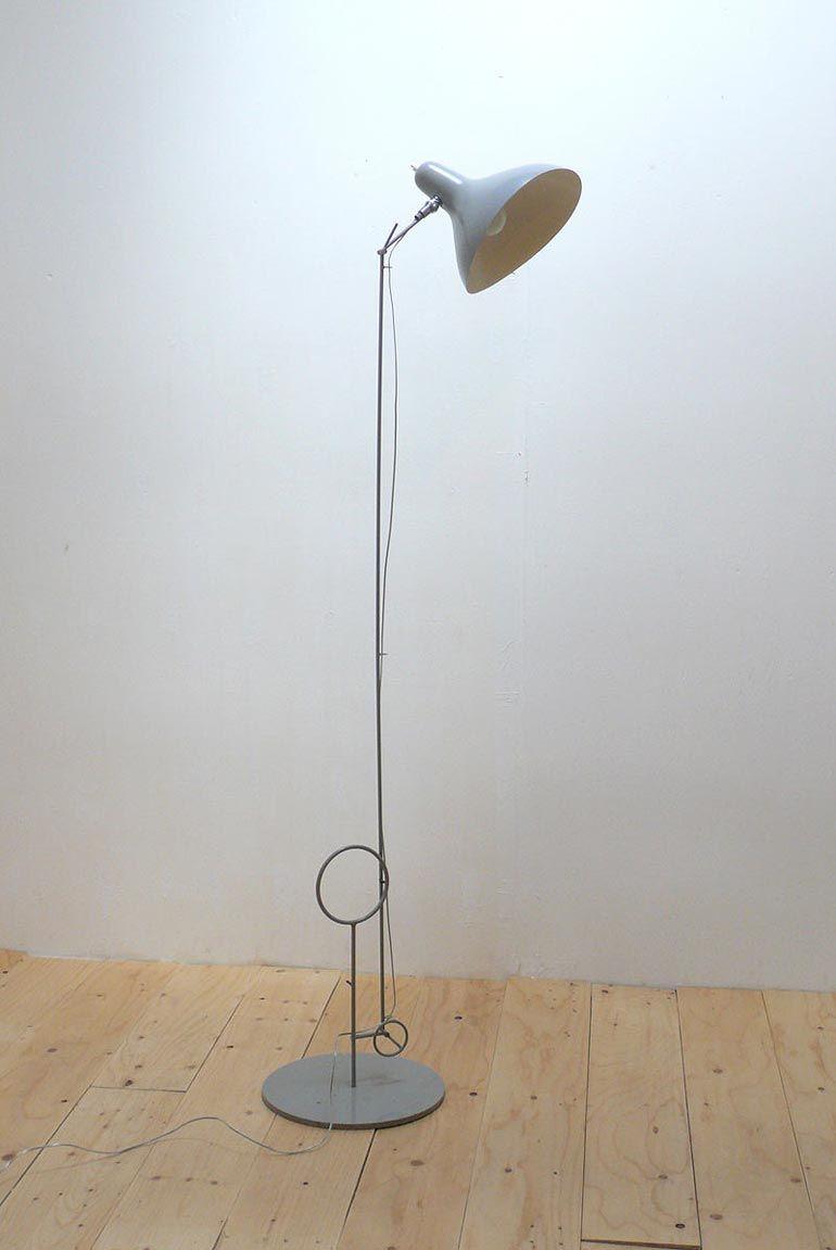 Metalen vloerlamp van Bernard Schottlander, ontworpen in de jaren 50 ...