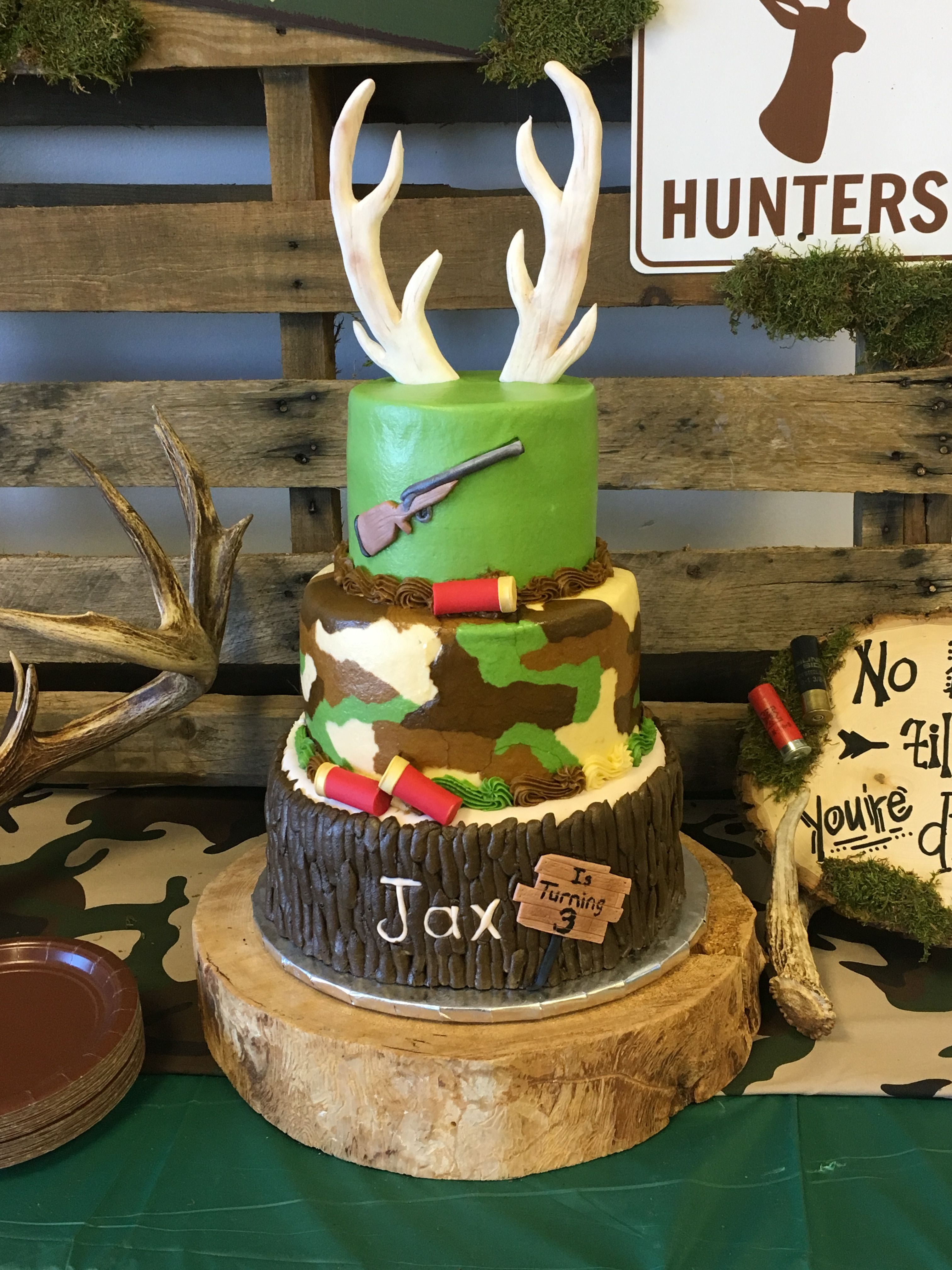 Tremendous Hunting Birthday Party Cake Idea Hunting Birthday Party Personalised Birthday Cards Epsylily Jamesorg