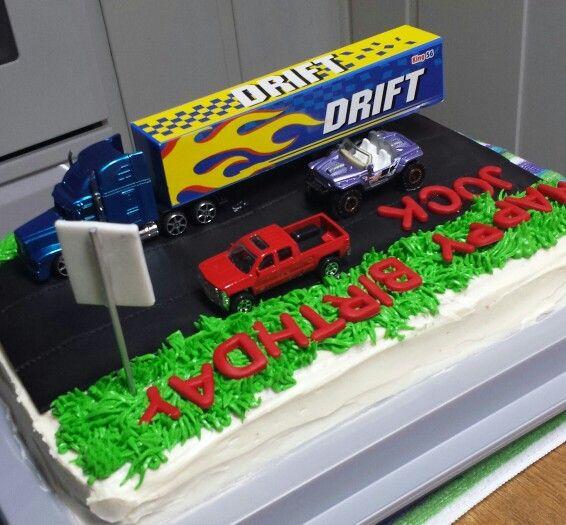 Cool Semi Truck Birthday Cake Truck Birthday Cakes Birthday Cake For Personalised Birthday Cards Sponlily Jamesorg