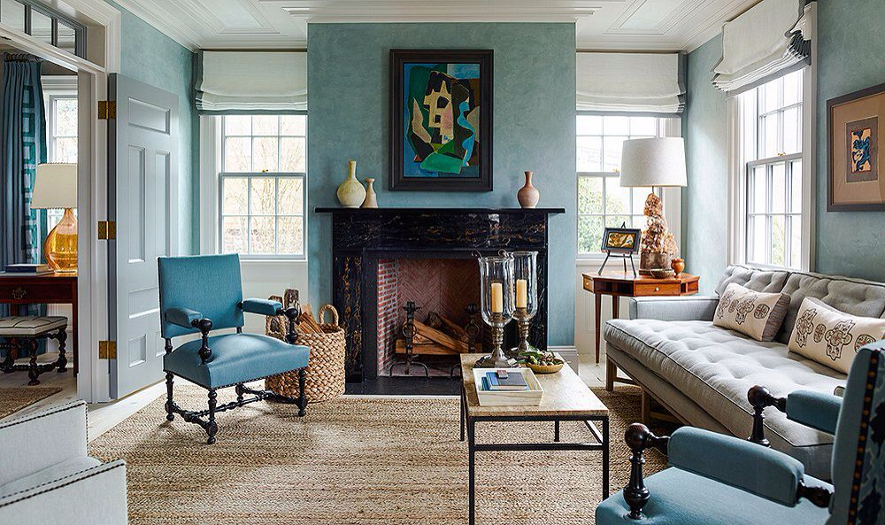 Steven Gambrel | Top interior designers, Blue paint, Blue ...