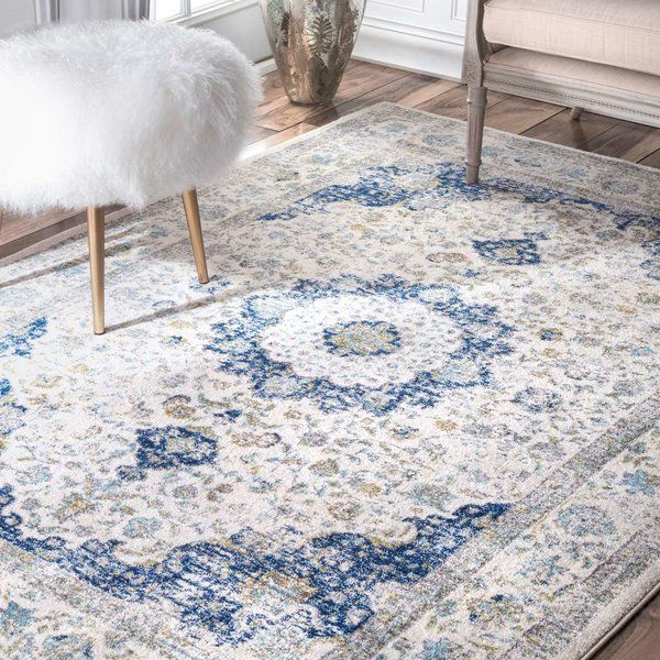 Emely Blue White Rug Blue Area Rugs Painted Paneling Walls