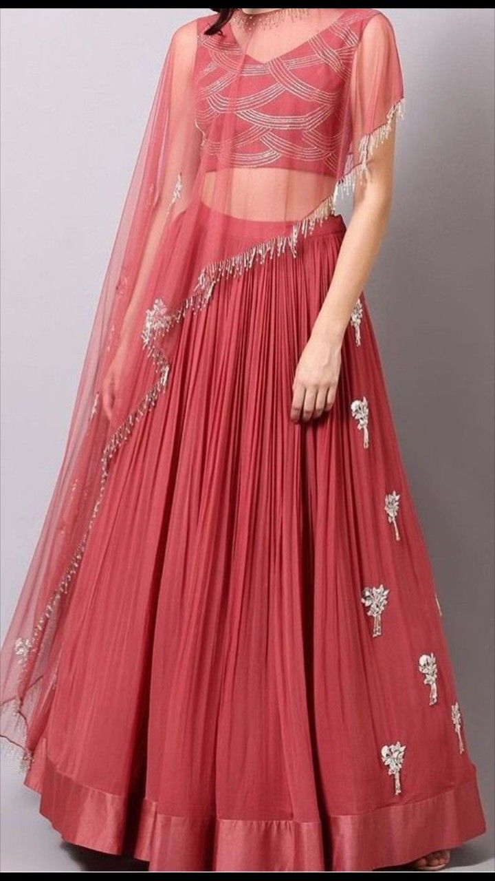 fc374ae19f Beautiful Lehenga-Choli with brilliant Hand work. Lengha Dress, Lehenga  Blouse, Cape