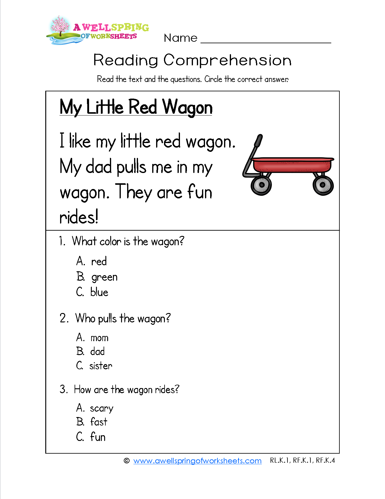 Short I Worksheet For Kindergarten Comprehension