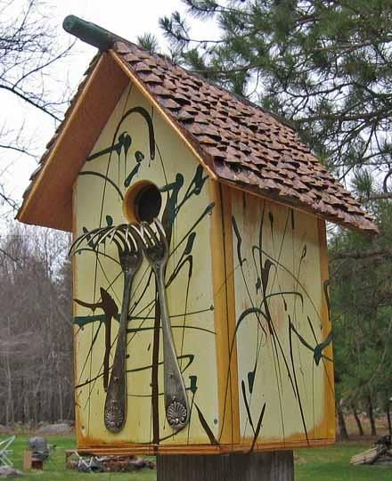 Recycled birdhouse...love