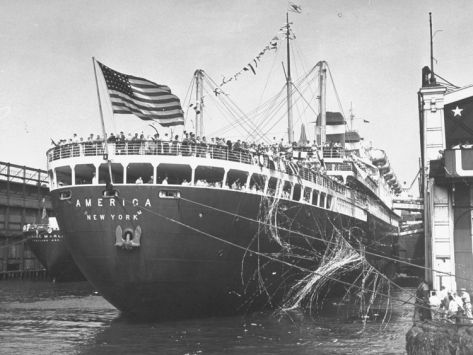 The U.S. Olympic Teams Leaving on the SS America